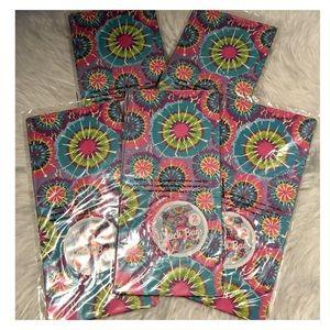 10 Pink Blue Tie Dye Paper Gift Wrap Bags NIP